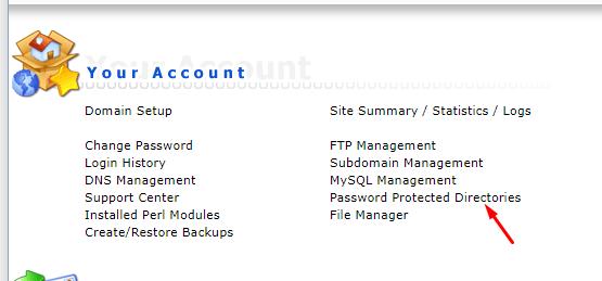Password Protected Directories