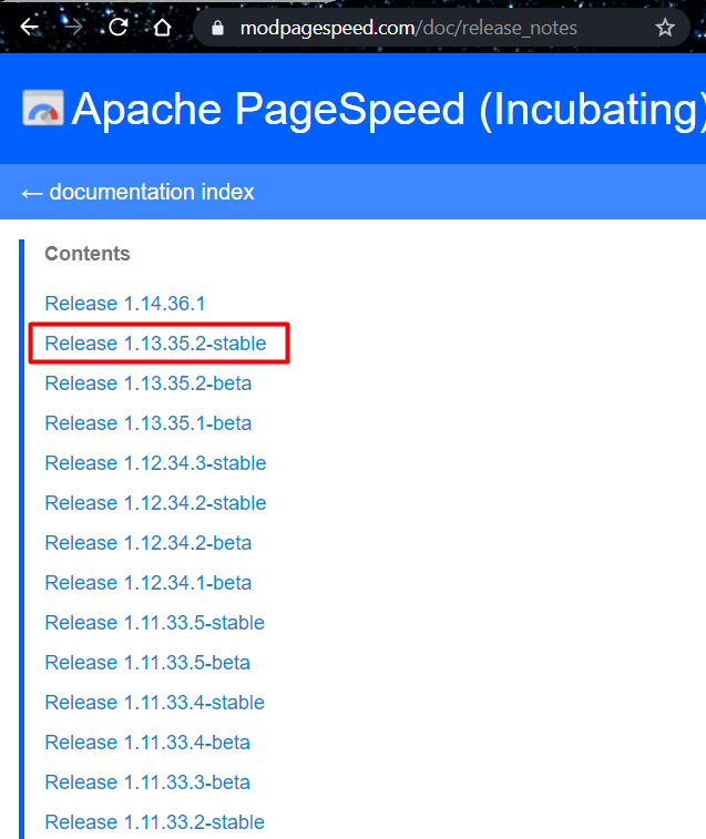 PageSpeed module